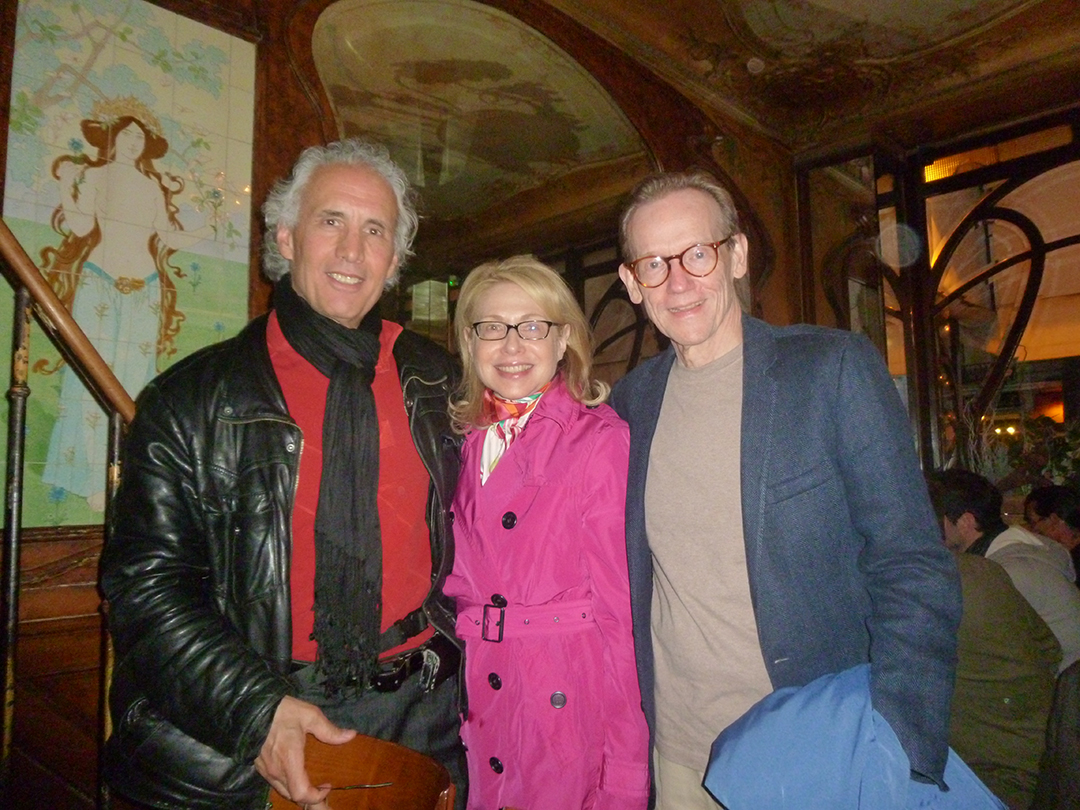 In Paris with the writer and activist, Frank Romano.