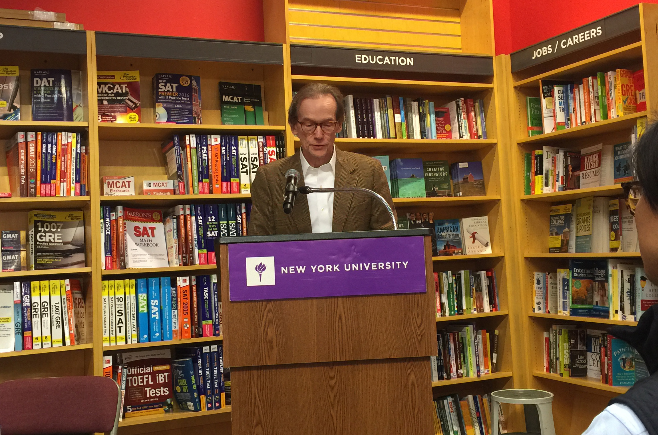 "J. Chester Johnson read as part of ""FOUR WAY BOOKS AND FRIENDS"" Program at NYU Bookstore"