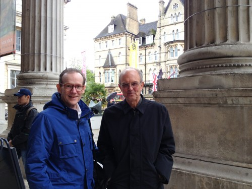 John Fuller and J. Chester Johnson at the Ashmolean Museum in Oxford, England.